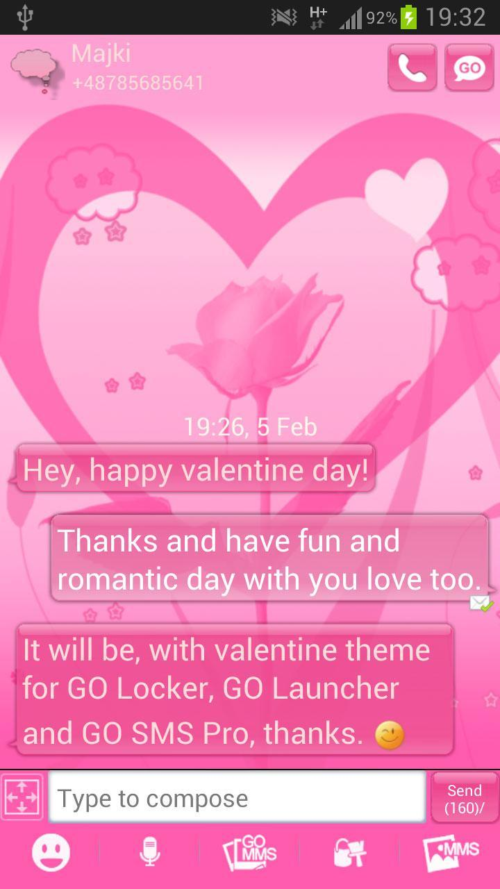 Tema Valentine GO SMS Pro For Android APK Download