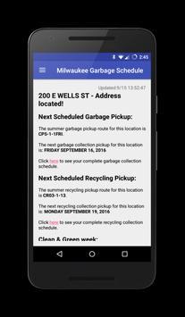 Milwaukee Garbage Schedule poster