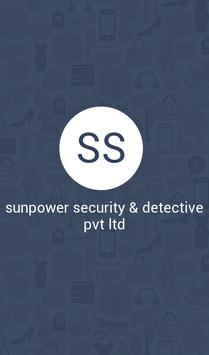sunpower security & detective poster