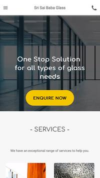 Sri Sai Baba Glass poster