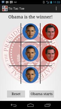 Election 2012 Tic Tac Toe poster