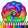Mandalas coloring pages आइकन