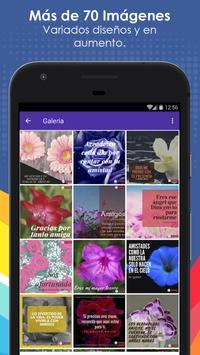 Frases de Amistad con Flores poster