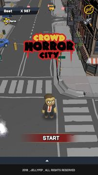 Crowd horror city poster