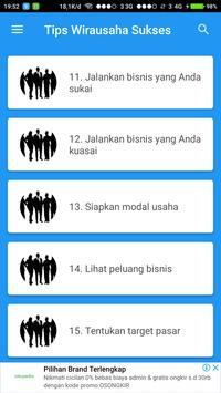 Tips Wirausaha Sukses screenshot 2
