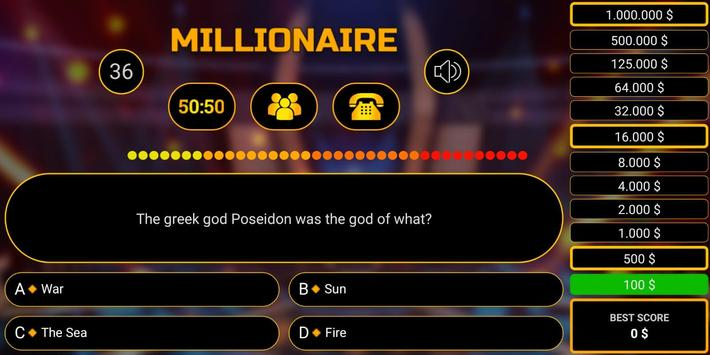 Millionaire free game 2019 quiz millionaire trivia screenshot 3