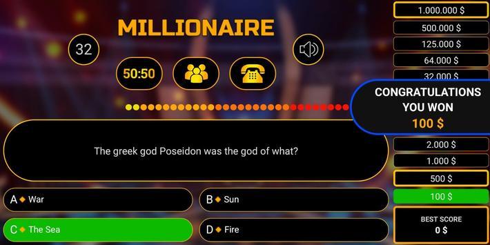 Millionaire free game 2019 quiz millionaire trivia screenshot 2