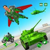 Flying Jetpack Army Hero: Gangster Crime Simulator icon