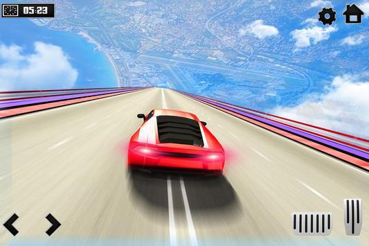 Sky Ramp Car Mega Stunts Big Jump تصوير الشاشة 7