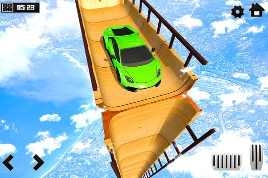 Sky Ramp Car Mega Stunts Big Jump الملصق