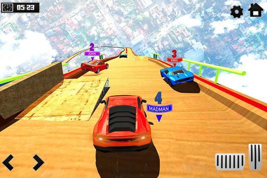 Sky Ramp Car Mega Stunts Big Jump تصوير الشاشة 1