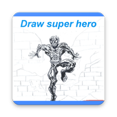how to draw: super hero icon