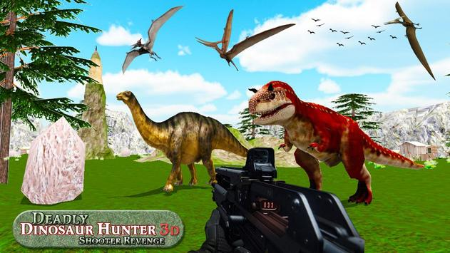 Mortal dinossauro caçador vingança fps shooter jog Cartaz