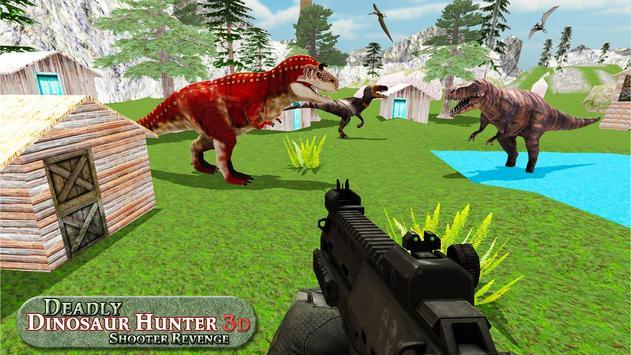 Mortal dinossauro caçador vingança fps shooter jog imagem de tela 1