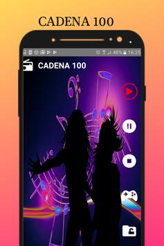 RADIO Cadena 100 free music screenshot 3