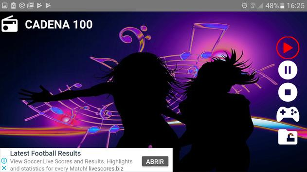 RADIO Cadena 100 free music screenshot 2