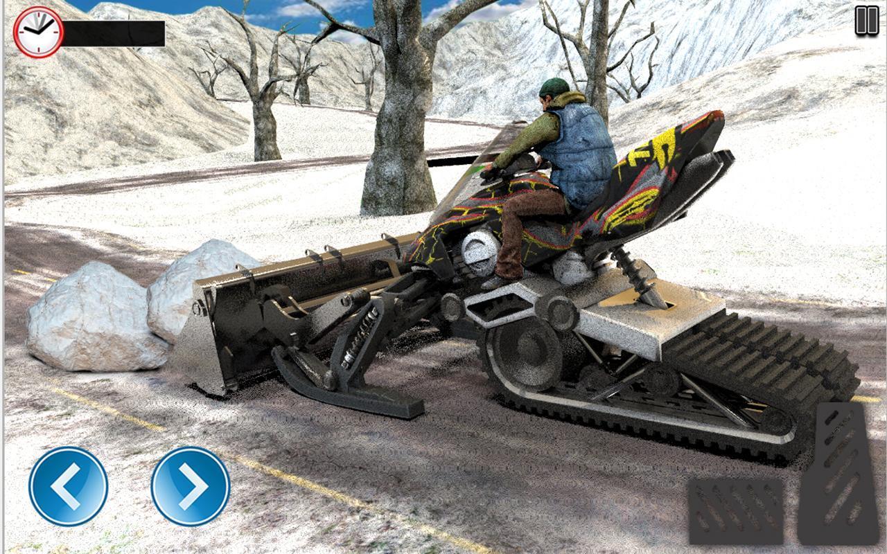 Snow clean plow Bike Excavator Road Ride Rescuers for