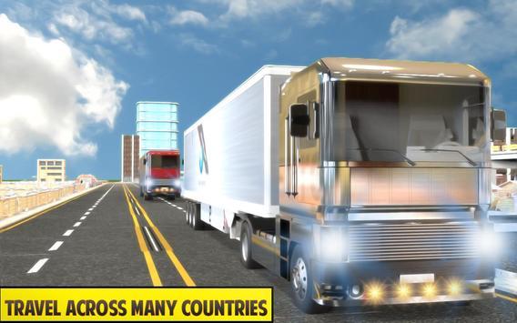 Silver Euro Truck Transporter Driving Sim 2019 screenshot 3