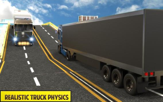 Silver Euro Truck Transporter Driving Sim 2019 screenshot 2