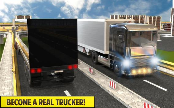 Silver Euro Truck Transporter Driving Sim 2019 screenshot 4