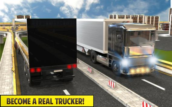 Silver Euro Truck Transporter Driving Sim 2019 screenshot 8