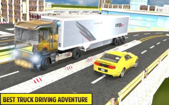 Silver Euro Truck Transporter Driving Sim 2019 screenshot 9
