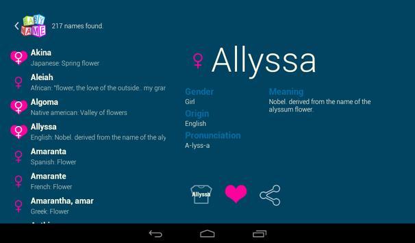 Baby Name - Simple! screenshot 16