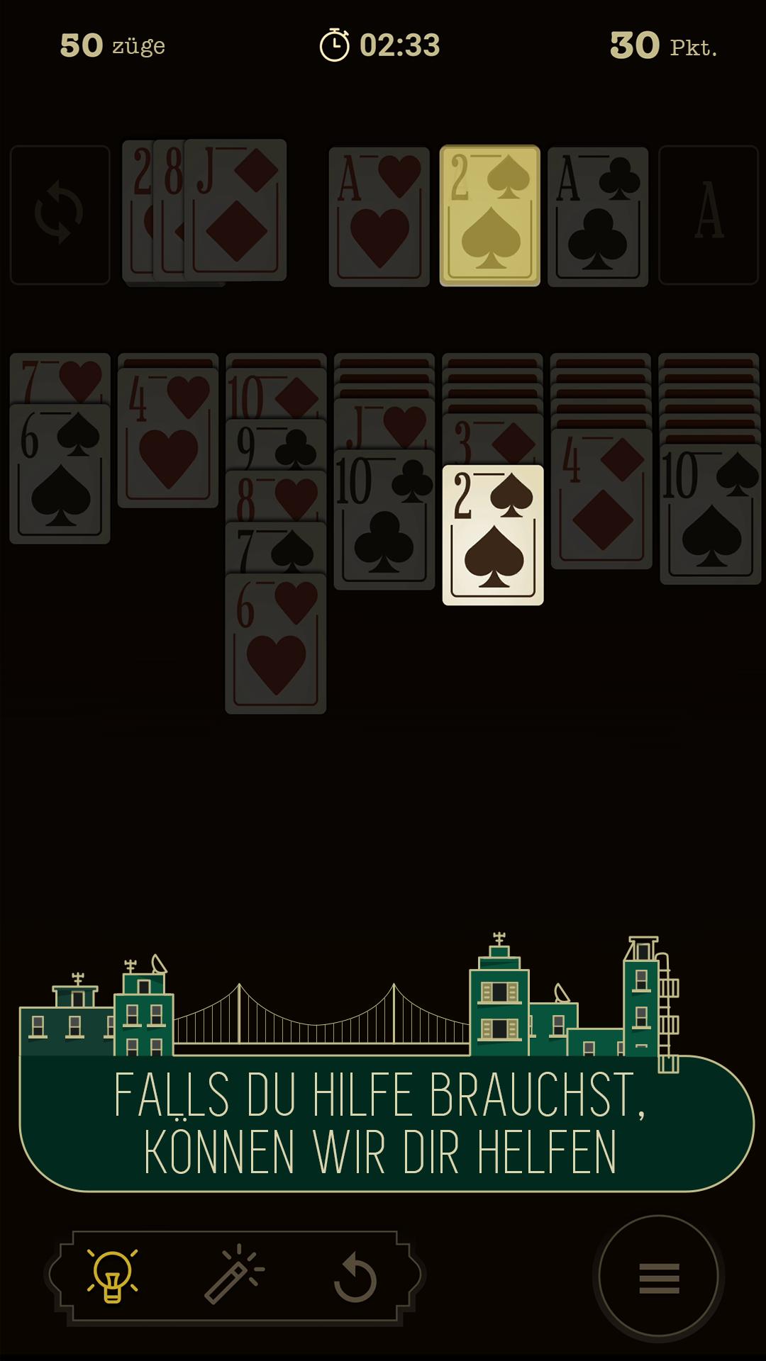 Klondike Kartenspiel