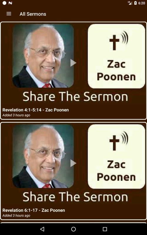 Zac poonen sermons on audio download