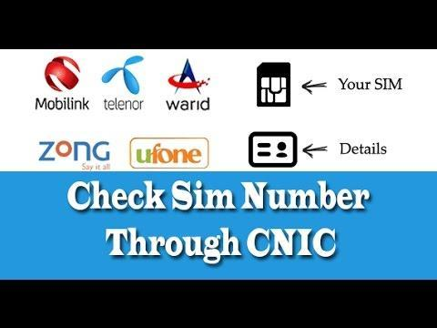 Cnic sim number check for Android - APK Download