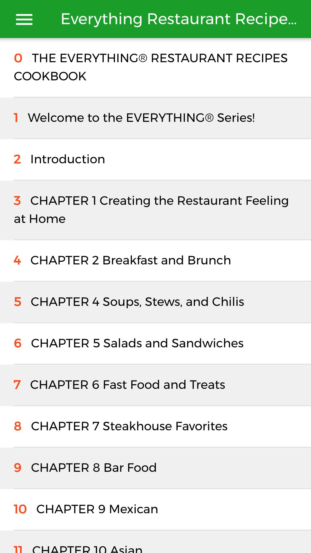Everything Restaurant Recipes Cookbook For Android Apk