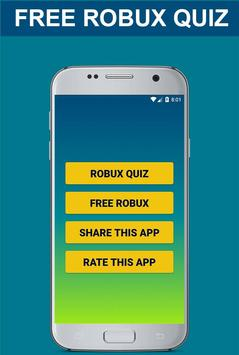 Free Robux Quiz - Best Quizzes for Robux screenshot 1