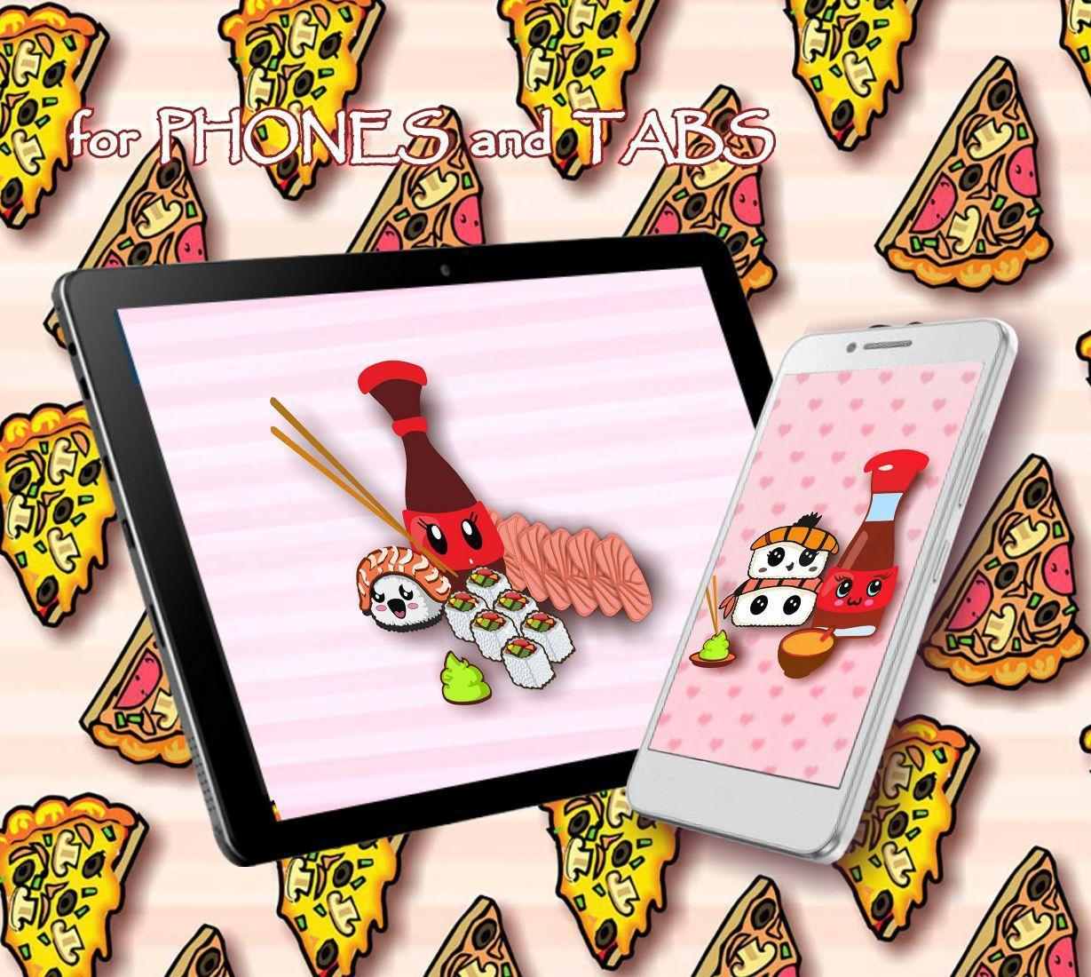 Kawaii Pizza And Sushi Live Wallpaper For Android Apk Download
