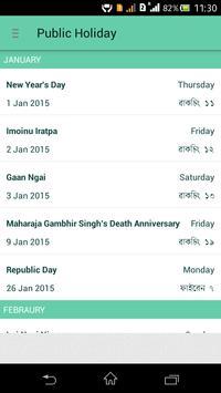 Manipuri Calendar screenshot 5