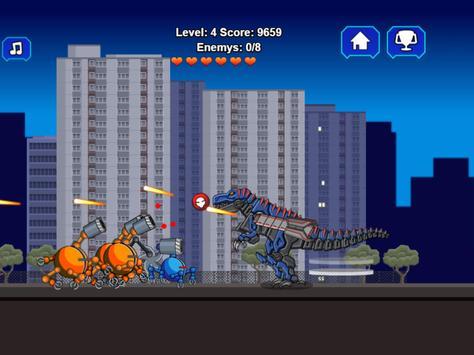 Robot Dino T-Rex Attack screenshot 9