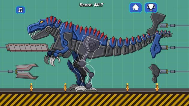 Robot Dino T-Rex Attack poster