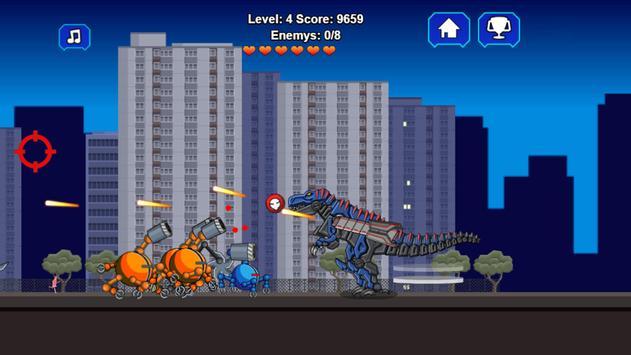 Robot Dino T-Rex Attack screenshot 1