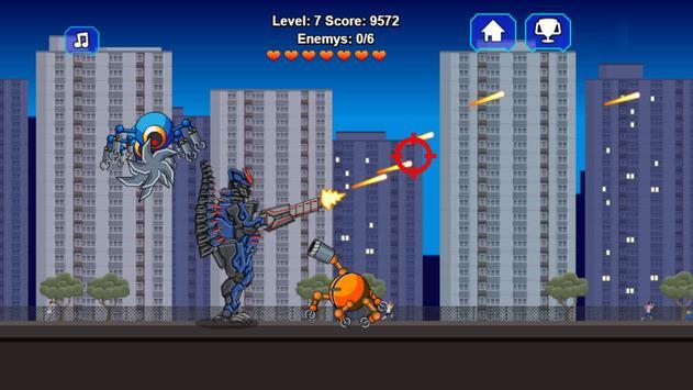 Robot Dino T-Rex Attack screenshot 3