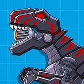 Robot Dinosaur Black T-Rex icon