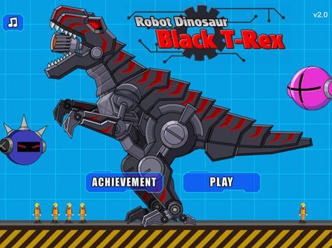 Robot Dinosaur Black T-Rex screenshot 4