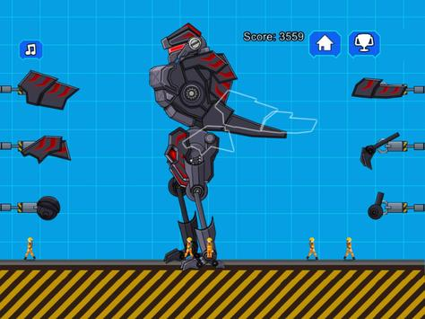 Robot Dinosaur Black T-Rex screenshot 5
