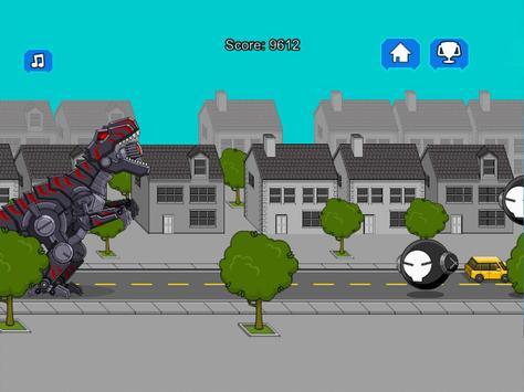 Robot Dinosaur Black T-Rex screenshot 6