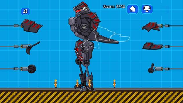 Robot Dinosaur Black T-Rex screenshot 1
