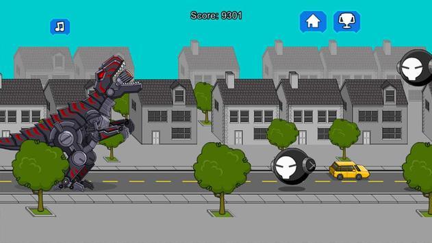 Robot Dinosaur Black T-Rex screenshot 2