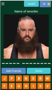 Wrestling fight quiz poster