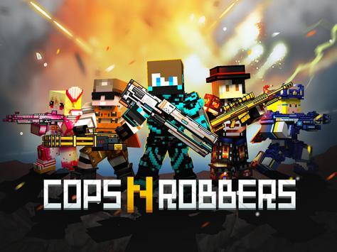 Cops N Robbers - 3D Pixel Craft Gun Shooting Games screenshot 8