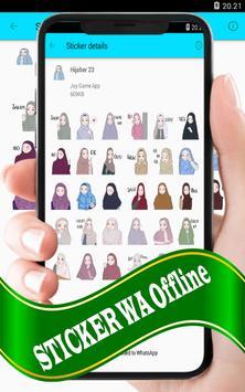 Hijab Sticker: WAStickerApp screenshot 8