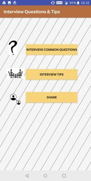 Interview Questions & Tips poster