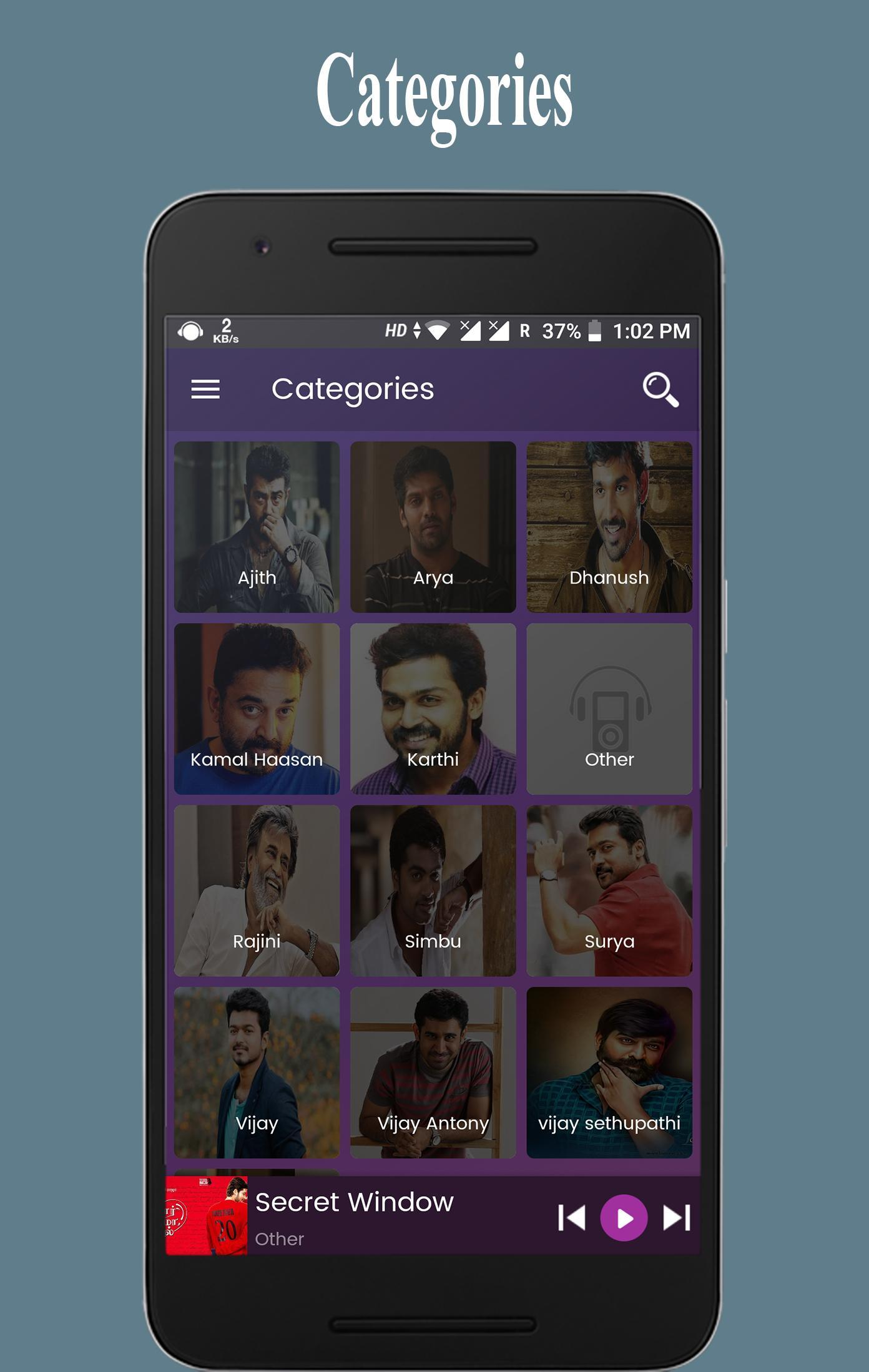 Tamil MP3 Songs : Hit Audio Songs for Android - APK Download
