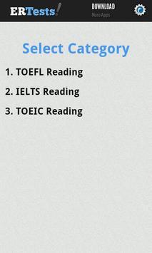 English Reading Test poster